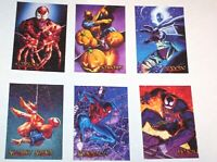 1996 Spider-Man PREMIUM INSERT CANVAS ETERNAL EVIL 6 Card Set! VENOM CARNAGE!