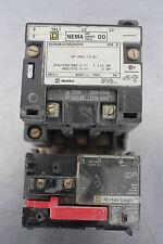 SQUARE D 8536-SAO12V02H20S STARTER 9AMP SIZE00 120VAC SOLID ST OVLOAD 3-9AMP
