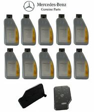 For Mercedes E550 10 Auto Trans Fluids & Filter Kit w/ 722.9xx 7-Speed Genuine