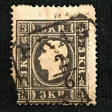 Austria SC #7a Used Missing Corner 1858
