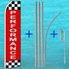 Performance Flutter Flag + Pole Mount Kit Tall Automotive Swooper Banner Sign