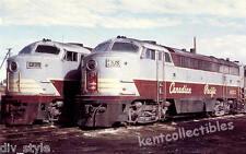 Canadian Pacific Fairbanks-Morse CLC locomotives train railroad postcard