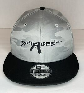 "New Era Custom ""We The People"" Grey Camouflage Snapback Cap Hat"