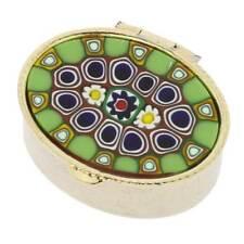 GlassOfVenice Murano Glass Small Millefiori Pill Box - Oval
