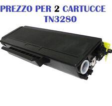 CARTUCCIA PER BROTHER HL-5300 HL-5340 HL-5350 HL-5370 HL-5380  X 2 TONER TN3280