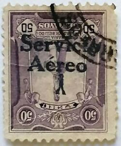 PERU first airmail stamp inverted overprint 1927 FORGERY +Bustamante certificate