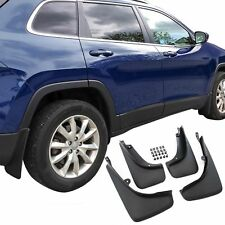 Jeep Cherokee Mud Flaps 2014-2017 Guards Splash Shield Molded 4 Pc Front Rear