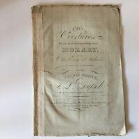 Spartito Overtures Figaro Opera Mozart Ov.n ° 1 Ladislav Dusseck London Galloway