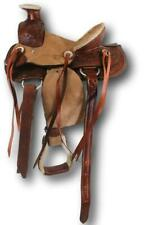 """D.A. Brand Kid's 12"""" Tooled Leather Wade Pony Saddle Horse Tack Equine"""