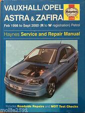 Vauxhall /Opel Astra & Zafira 2/98 - 9/00 Petrol, Haynes Service & Repair Manual