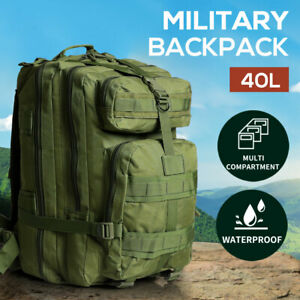 40L Military Tactical Backpack Hiking Camping Rucksack Outdoor Trekking Army Bag
