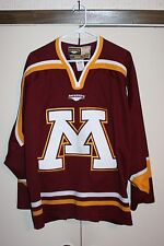 Mission Hockey Mn Golden Gophers Sewn Retro Jersey Wcha Big 10 Size Xl Nhl Hip