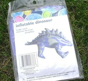 Inflatable Dinosaur.  Size 24 inches by 13 inches.  NOT a Lifesaving Device.