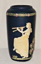 "Beautiful Antique ~WELLER ART POTTERY BLUE WARE MAIDEN VASE~ 7"" Tall 1900-1925"