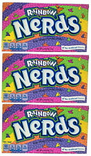 3x Formally Wonka Rainbow Nerds Crunchy Candy Large Box 141.7g American Sweets