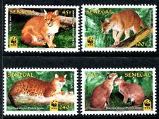 Senegal 1294-1297, MNH. WWF 1997. Aurata - African golden cat. x798