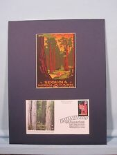 Honoring Sequoia National Park & First Day Cover of the stamp honoring Redwoods