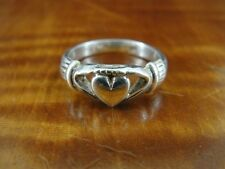 Claddagh Symbol Hands Heart Band Sterling Silver 925 Ring Size 5 1/2