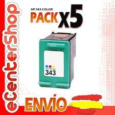 5 Cartuchos Tinta Color HP 343 Reman HP Deskjet 5745