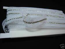 Crystal Rhinestone Trim Banding Silver-White Netting ~19SS