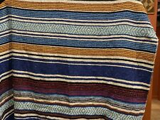 Bluewater Beach Mexican Blanket/Serape Cotton Blend perfect for cabin/dorm~Exc