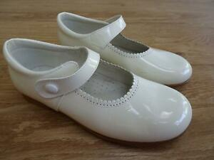 PRETTY ORIGINALS girls white patent dolly shoes EU 32 UK 13