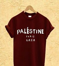 MENS FREE PALESTINE GAZA CELINE PARIS T SHIRT PROTEST CHARITY FREEDOM WAR WOMENS