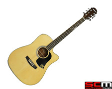 Aria AW35CEN Electric Acoustic Guitar Cutaway Sitka Spruce Rosewood
