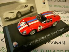 MAS17 voiture 1/43 LEO models MASERATI TIPO 151/3 24 heures mans 1964 Simone #2