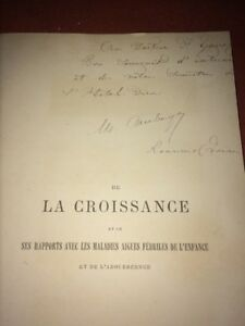 MÉDECINE .DE LA CROISSANCE . 1882 .MÉDECINE.