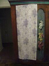 BEAUTIFUL LAURA  ASHLEY SOPHIA BLUE & WHITE ROSES LINED DRAPES  #177