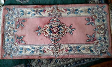 Brand NEW 100% Wool Chinese Rug Runner  4'x2 PINK' FLORALl  Authentic