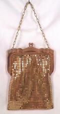 Whiting Davis Mesh Purse Gold Evening Bag Vintage Small Nice #2