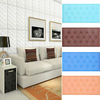 3D Anti-Crash PE Foam Self Adhesive Wallpaper DIY Home Decor Room Wall Sticker