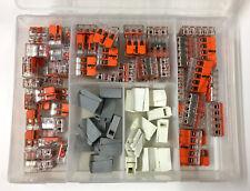 80 tlg. Wago Klemmen Sortiment Serie 221 224 Verbindungsklemmen Box Steckklemmen