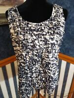 NWOT Chico's Tank Top Women's Tiered Ruffle Sleeveless Stretch Size 2