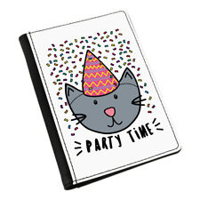 Party Time Cat Passport Holder Cover Case Wallet - Funny