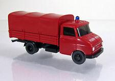 """Wiking 086127 Opel Blitz Pritsche/Plane-LKW  """" Feuerwehr """""""
