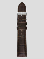 Interchangeable Watch Strap - Genuine Croco Brown Leather 20mm RRP $35
