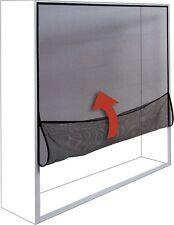 Zanzariera a strappo avvolgibile per finestra nero effetto trasparente 150 x 180