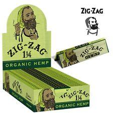 Zig Zag Organic Hemp Green 1.25 1 1/4 Rolling Paper 24 Booklets FULL BOX