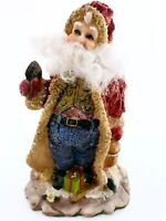 Vtg RARE 1989 Blue Jean Country Santa Claus Figurine Christmas Holiday Decor