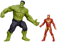 "MARVEL AVENGERS AGE OF ULTRON SAVAGE HULK & ULTRON HUNTER IRON MAN 2.5"" FIGURES"