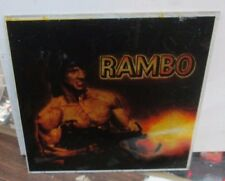 RAMBO 1ST BLOOD CARNIVAL GLASS 6 X 6 COLLECTIBLE RARE VINTAGE SYLVESTOR STALLONE