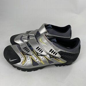 NIKE ACG YVR III Chrome Dark Grey Cycling Shoes Women Size 9.5 Shimano Clips