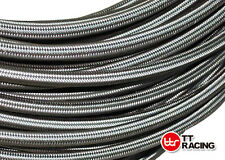 """AN 8 8AN 7/16"""" 10mm Braided Stainless Steel Fuel Oil Gas Hose Pipe 5ft"""