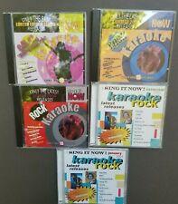 Karaoke Sing It Now Rock Music 5 CDs