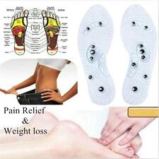 1 Pair Unisex Magnetic Therapy Silicone Anti-fatigue Massage Insoles SS US
