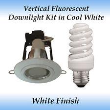 Energy Saving 15 watt Cool White Fluorescent Downlight Kit in White Frame