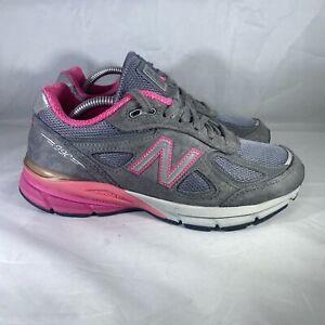 New Balance 990v4 Women's W990GP4 Running Shoe Gray/Pink Size 7 B Made in USA